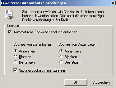 Cookies Internet Explorer